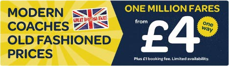 National Express - One million fares from £4 one way