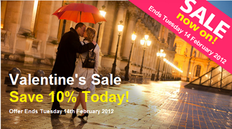 Valentine's sale now on at Paris Pass - 10% off