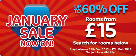 Travelodge January Sale: Rooms from 15 GBP