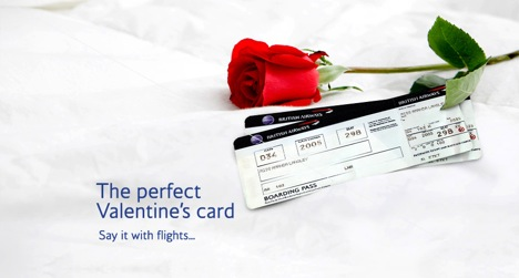 British Airways: Say it with flights this Valentine's Day